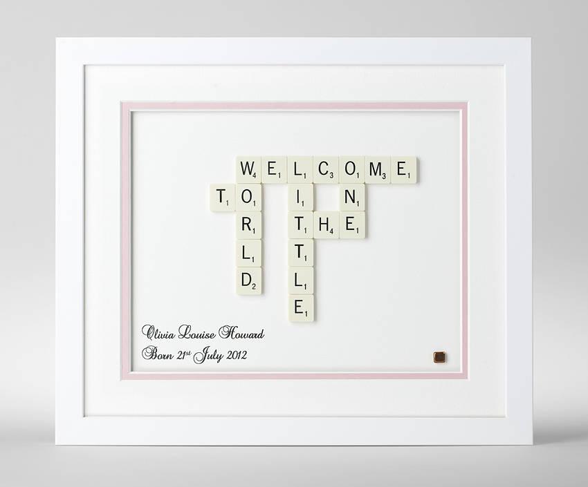 Festive fivers christmas presents for under 5 mse scrabble picture print arrange scrabble tiles into words take a photo print frame negle Choice Image