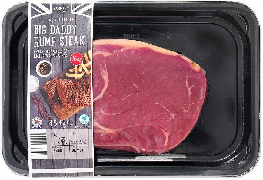 Aldi Big Daddy rump steak