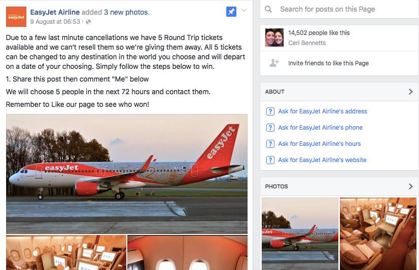 Fake Easyjet offer