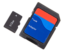Micro SD next to SD card