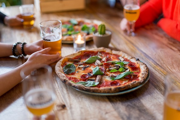 Taproom free pizza for London Marathon runners