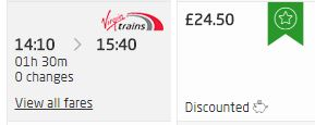 Virgin Trains East Coast 50% off family tickets