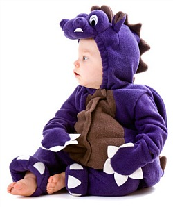 picture of baby in dinosaur costume