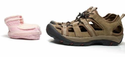 picture of adult and baby shoes