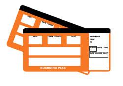 Boarding pass card