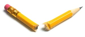 Picture of broken pencil
