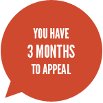 You have 3 months to appeal