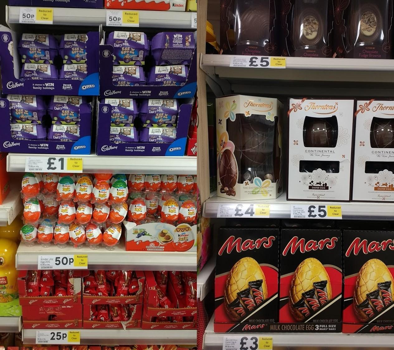 Easter Egg reductions in Tesco