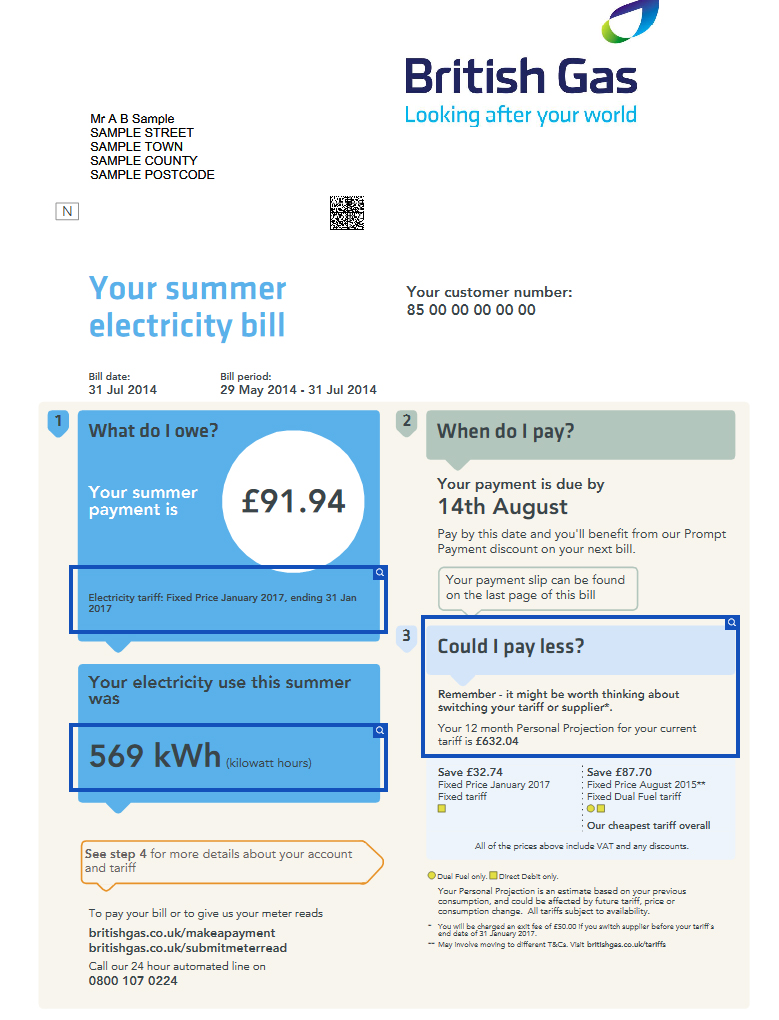 Electric Bill I ~ Energy bills explained understand them save £ s mse