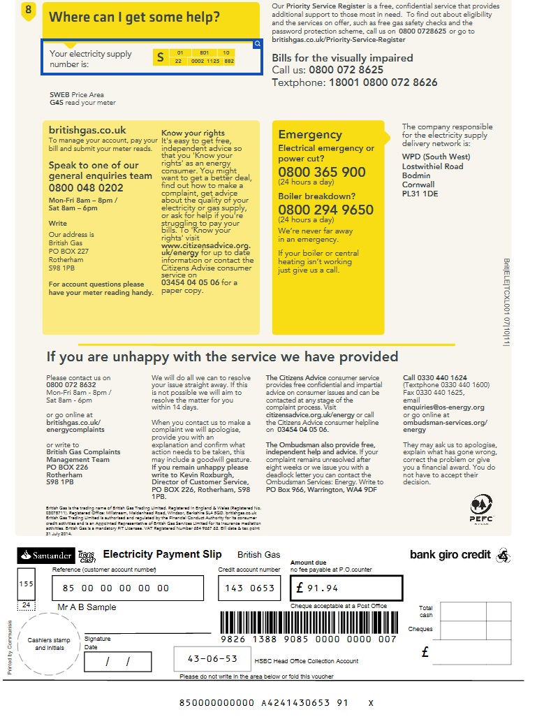 How to pay your bills with British Gas | Numbers