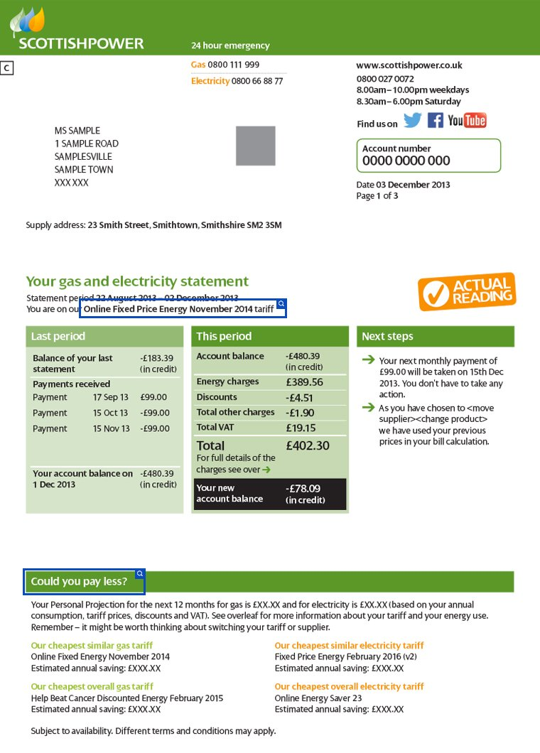 Scottish power page 1