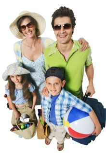 picture of family on holiday