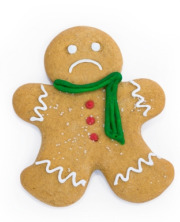 Sad gingerbread man