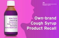 Children's blackcurrant cough syrup recall