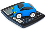 Picture of toy car on calculator