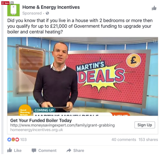 fake home and energy incentive