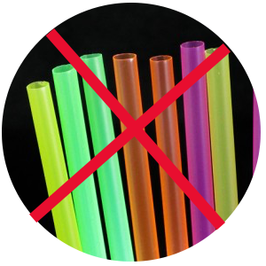 No to drinking straws