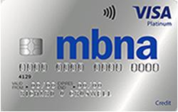 MBNA Balance Transfer Credit Card 41 months