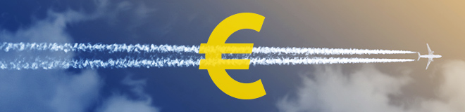Check if booking the return flight in euros is cheaper
