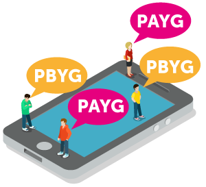 Traditional Payg Where You Really Do Pay As Go This Is The Model Top Up With Credit And Are Then Charged For Each Minute