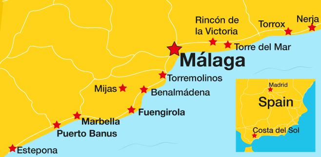 Costa del Sol moneysaving Incl Marbella Torremolinos Mijas