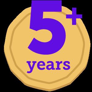 Five+ years