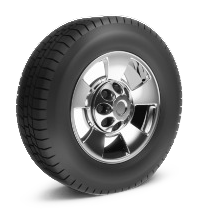 Picture of car wheel