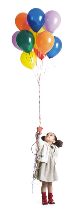 Picture of child with balloons