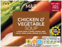 M&S chicken and vegetable soup (600g)