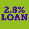 2.8% cheapest loan EVER
