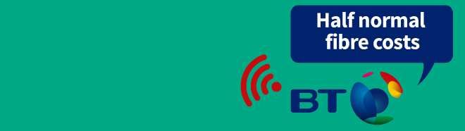 A YEAR's BT fast fibre broadband & line '£264'