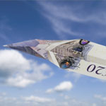 Plane made from £20 note