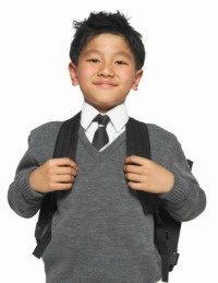 picture of child in school uniform