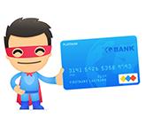 Super-hero credit card
