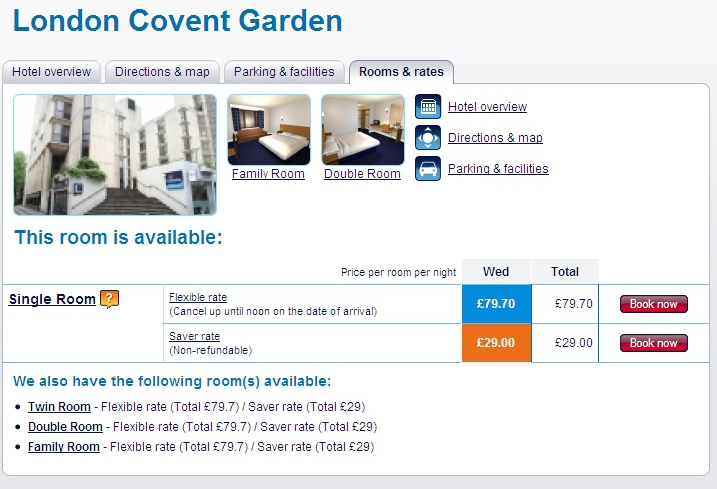 Images Family Rooms Travelodge Covent Garden