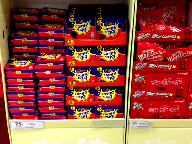 Can you find super cheap post easter chocolate 15p creme eggs tesco creme eggs negle