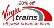 20% off Virgin Trains advance fares