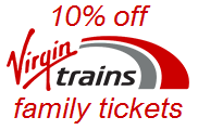 10% off Virgin Trains family tickets