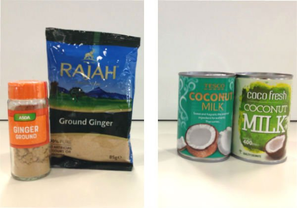 World foods aisle bargains: Asda ground ginger, Tesco coconut milk.